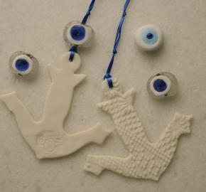 anchor,white,bomboniera,ceramic,mati