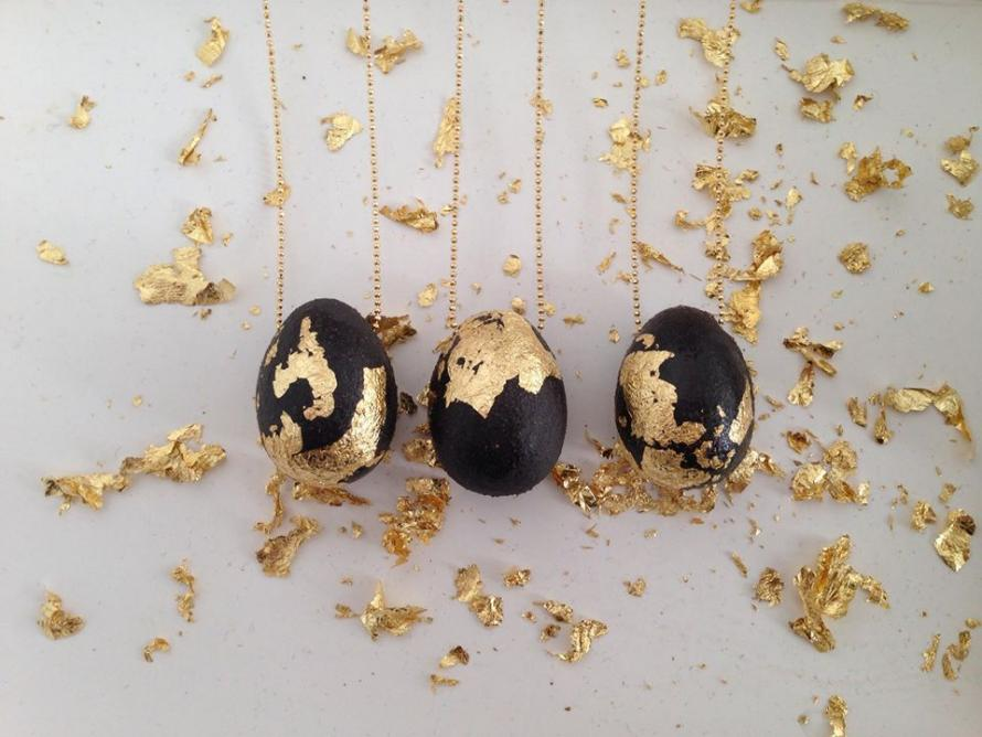 Egg with Gold Leaf