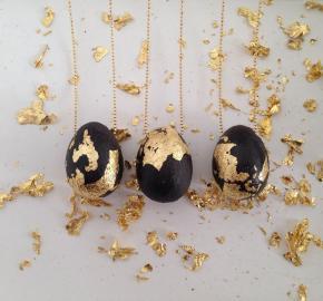Egg with Gold Leaf