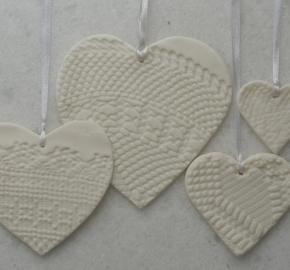 Hanging Hearts dantelle