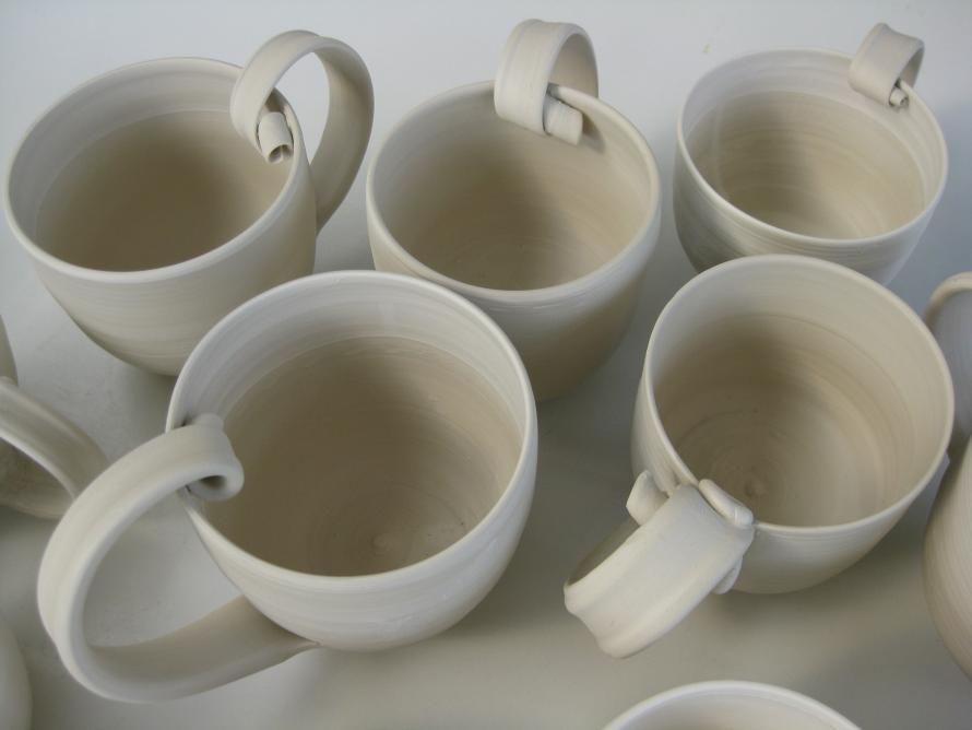 teapot, celadon, porcelain, hand thrown, parps island, greek island potters, ceramics,
